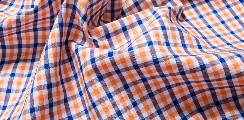 Orange And Blue Gingham Shirts By Proper Cloth
