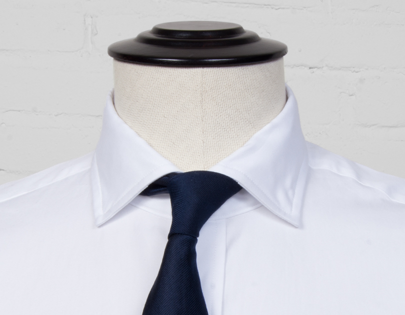Stiff president spread collar by proper cloth for Spread collar dress shirt without tie