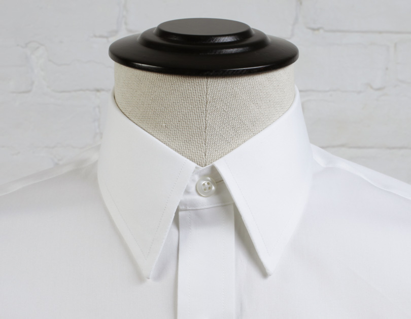 Straight Point Collar Proper Cloth: straight collar dress shirt