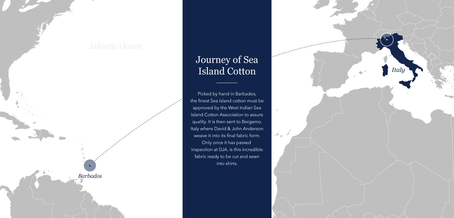 Map of Sea Island Cotton Journey