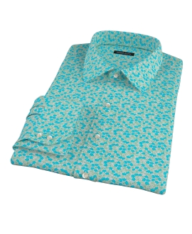 Canclini Flower Print Fitted Dress Shirt