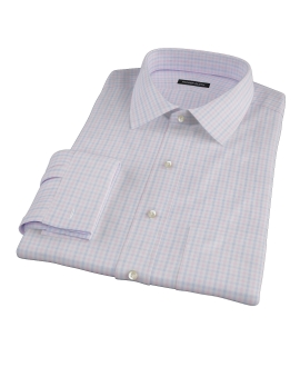Pink and Blue Gingham Oxford Men's Dress Shirt