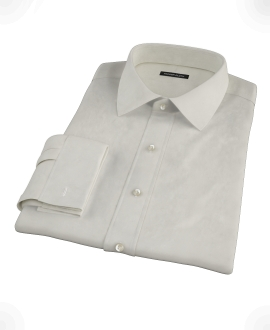 Ivory Easy Care Broadcloth Fitted Shirt