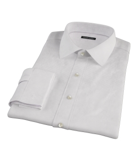 140s Lavender Wrinkle Resistant Grid Dress Shirt
