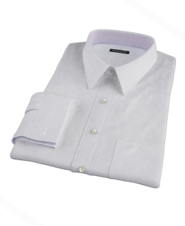 Aqua and Lavender Satin Stripe Custom Dress Shirt