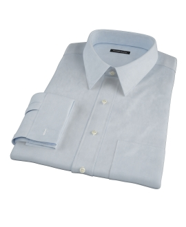 Canclini Light Blue 120s Broadcloth Custom Dress Shirt