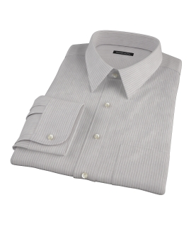 Clove Brown End-on-End Stripe Men's Dress Shirt
