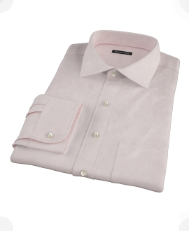 Pink Cavalry Twill Herringbone Fitted Dress Shirt