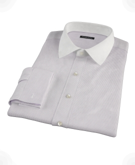 Japanese Lavender Mini Grid Custom Dress Shirt