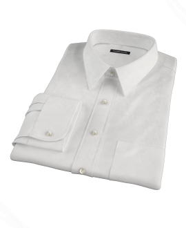 Thomas Mason White Pinpoint Custom Dress Shirt
