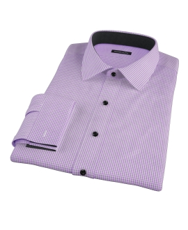 Canclini Lavender Mini Gingham Men's Dress Shirt