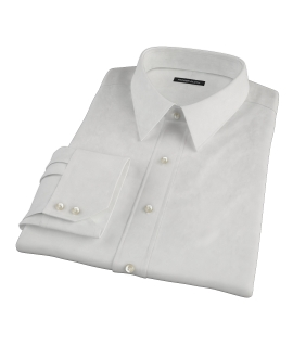 140s Ivory Wrinkle Resistant Broadcloth Men's Dress Shirt