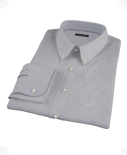 Blue End-on-End Men's Dress Shirt
