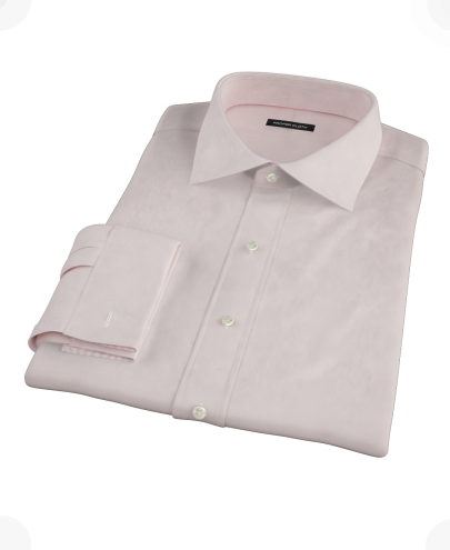 Pink End-on-End Custom Dress Shirt