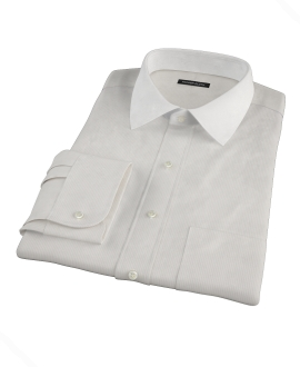 100s Khaki Stripe Tailor Made Shirt