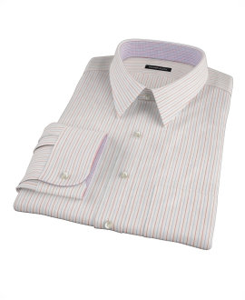 Japanese Blue and Red Stripe Custom Dress Shirt