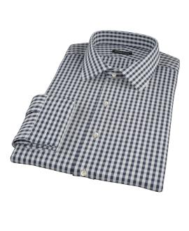 Dark Navy Gingham Tailor Made Shirt