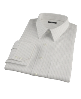 Lavender Grey Dobby Stripe Custom Dress Shirt