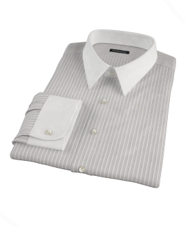 Japanese Lavender and Grey Stripe Fitted Shirt