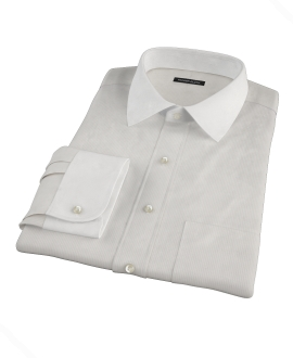 100s Khaki Stripe Men's Dress Shirt