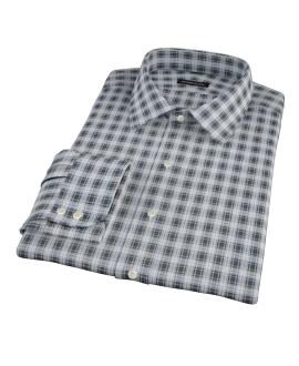 Blue and Green Plaid Tailor Made Shirt