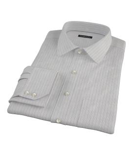 Tan and Blue Multi Stripe Dress Shirt