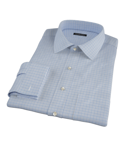 Light Blue HD Check Custom Dress Shirt 