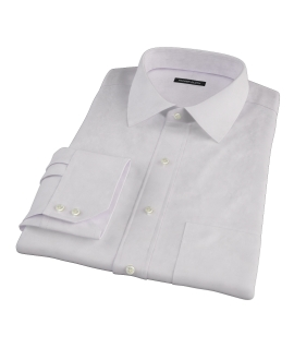 140s Pink Wrinkle Resistant Broadcloth Dress Shirt