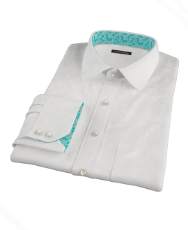 White Heavy Oxford Cloth Tailor Made Shirt