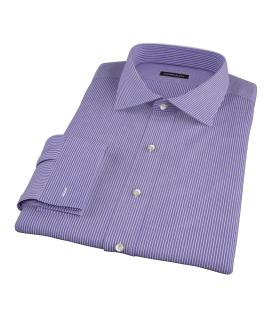 Canclini Blue and Red Stripe Custom Dress Shirt