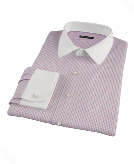 Red Davis Check Tailor Made Shirt