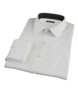 140s Ivory Wrinkle Resistant Broadcloth Tailor Made Shirt