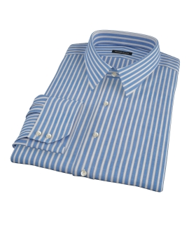 Blue Stripe Fitted Dress Shirt