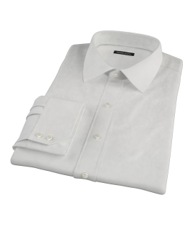 140s Ivory Wrinkle Resistant Broadcloth Custom Dress Shirt