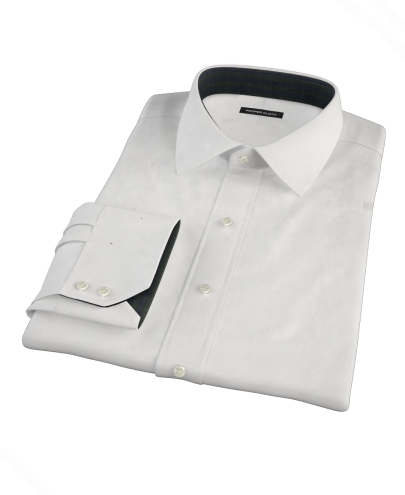 White Dobby Men's Dress Shirt