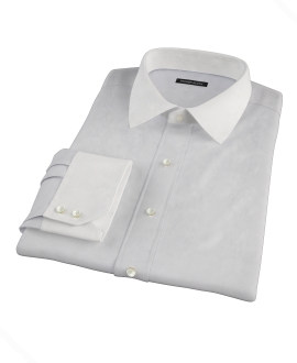 Bowery Light Gray Pinpoint Fitted Shirt