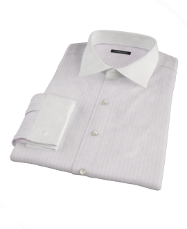 Pink University Stripe Heavy Oxford Fitted Shirt