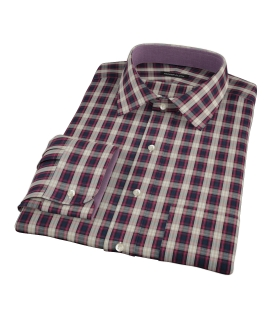 Mulberry Gold Plaid Fitted Shirt