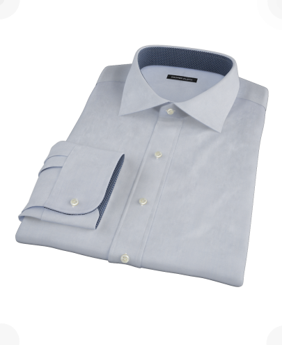 Light Blue End-on-End Men's Dress Shirt