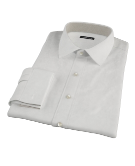 140s Ivory Wrinkle Resistant Broadcloth Men's Dress Shirt