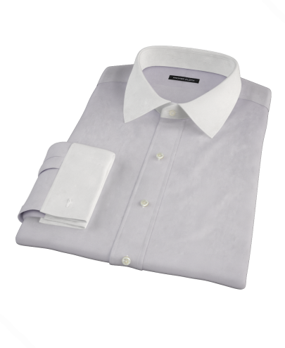 Lavender Pinpoint Fitted Dress Shirt
