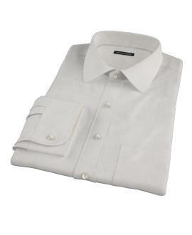 100s Khaki Stripe Fitted Dress Shirt