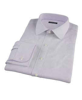 Lavender Wrinkle Resistant Cavalry Twill Fitted Shirt