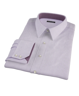 Lavender Multi-Check Dress Shirt