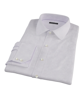 Purple Thin Stripe Heavy Oxford Dress Shirt