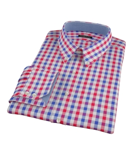 Red and Blue Large Gingham Custom Made Shirt