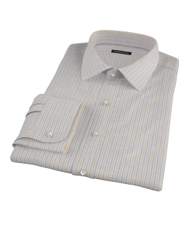Yellow Davis Check Custom Dress Shirt