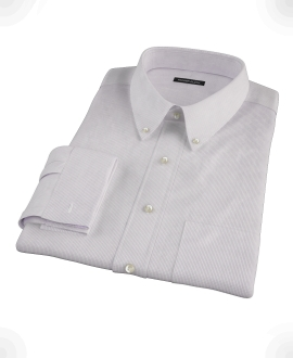 Japanese Lavender Mini Grid Dress Shirt