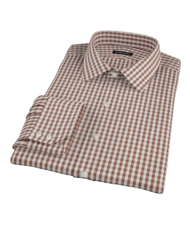 Clove Brown Gingham Dress Shirt