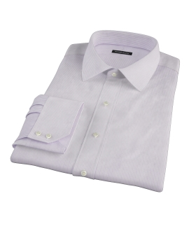 Lavender Dobby Stripe Fitted Shirt